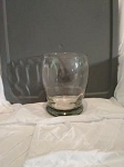 CLEAR FAT GLASS VASE