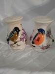 e SONG BIRD SALT AND PEPPER SHAKERS
