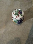CHERRY TOP CANISTER /cookie jar large size