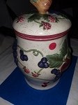 PEAR TOP CERAMIC CANISTER /cookie jar