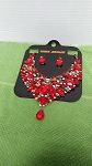RED  Crystal  fashion jewelry  necklace  set