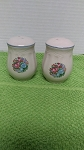white pink blue salt pep shakers